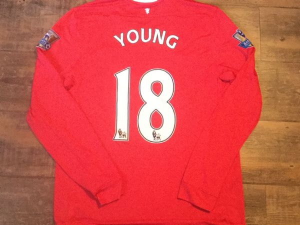 2011 2012 Manchester United L/s Young Home Football Shirt Adults Large